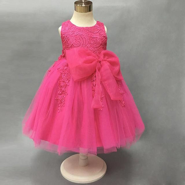 Flower Girl Dresses With Tassel Pattern Lace Knee-Length Party Gown Sl