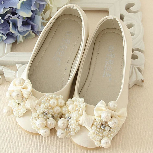 Pearls Flower Girls Wedding Shoes 2017 New Style Luxury Kids Ballet For  Party Children Girl Flats ...