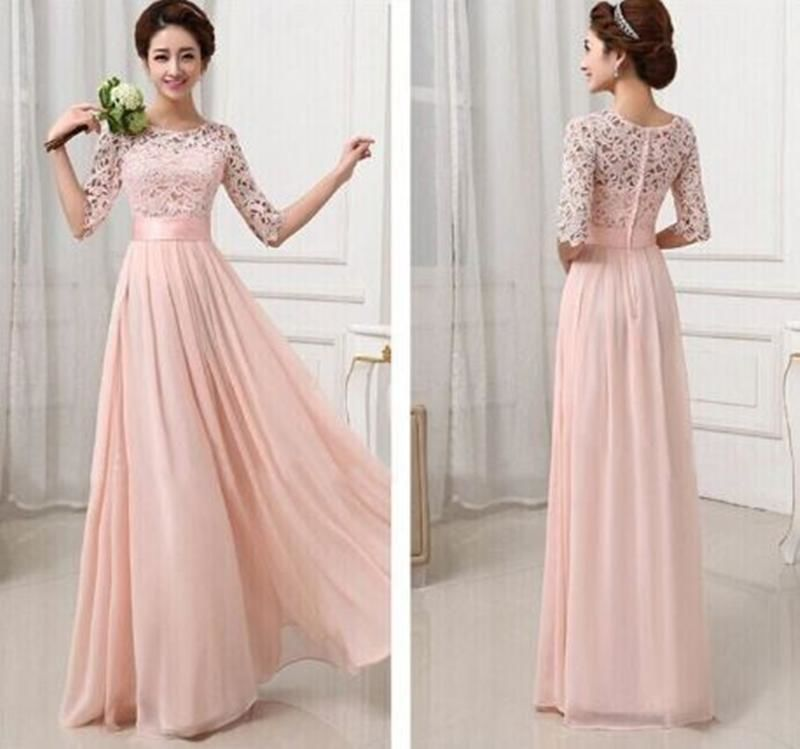 Elegant Chiffon Lace Dress-Plus Size Available