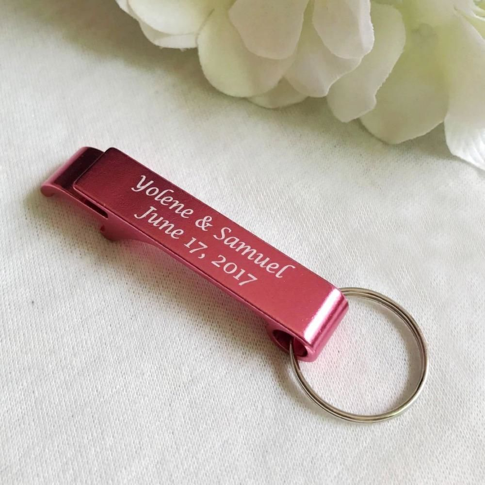50pcs Personalized Engraved Bottle Opener Key Rings
