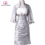 Grace Karin Plus size  Knee Length Short Mother Of The Bride Dresses With Jacket for weddings - Bridal by Valerie