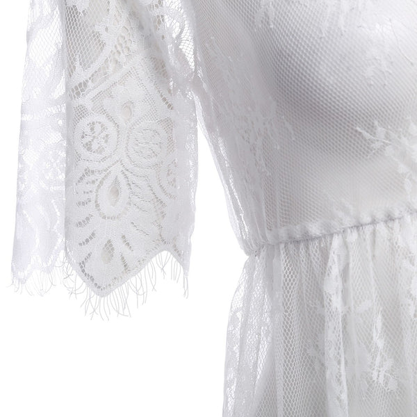 Lace Cover-up Dress with Sleeves