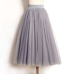Tulle / Tutu Maxi Skirt with Elastic Waistband