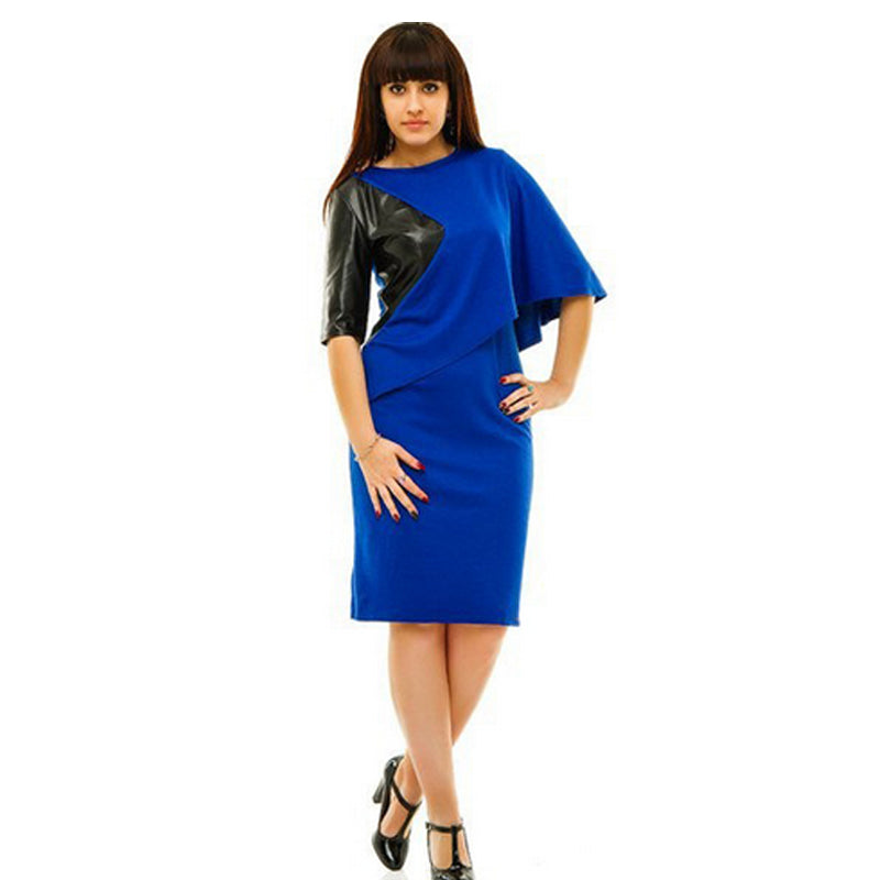 Plus Size Casual Dress with Batwing Sleeve