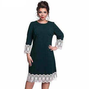 Long Sleeves Dress with Lace Trimmings
