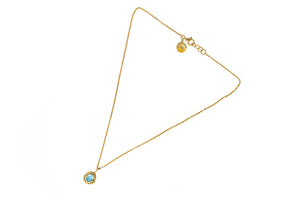 Blue Topaz Retro Necklace
