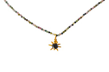 Tourmaline with Black Spinel Spider Necklace