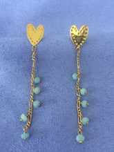 Ethnic Heart Amazonite Earrings