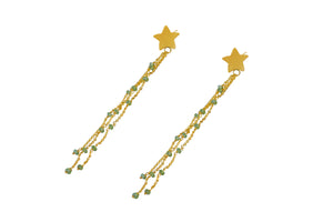 Peridot Star Sparkle Earring
