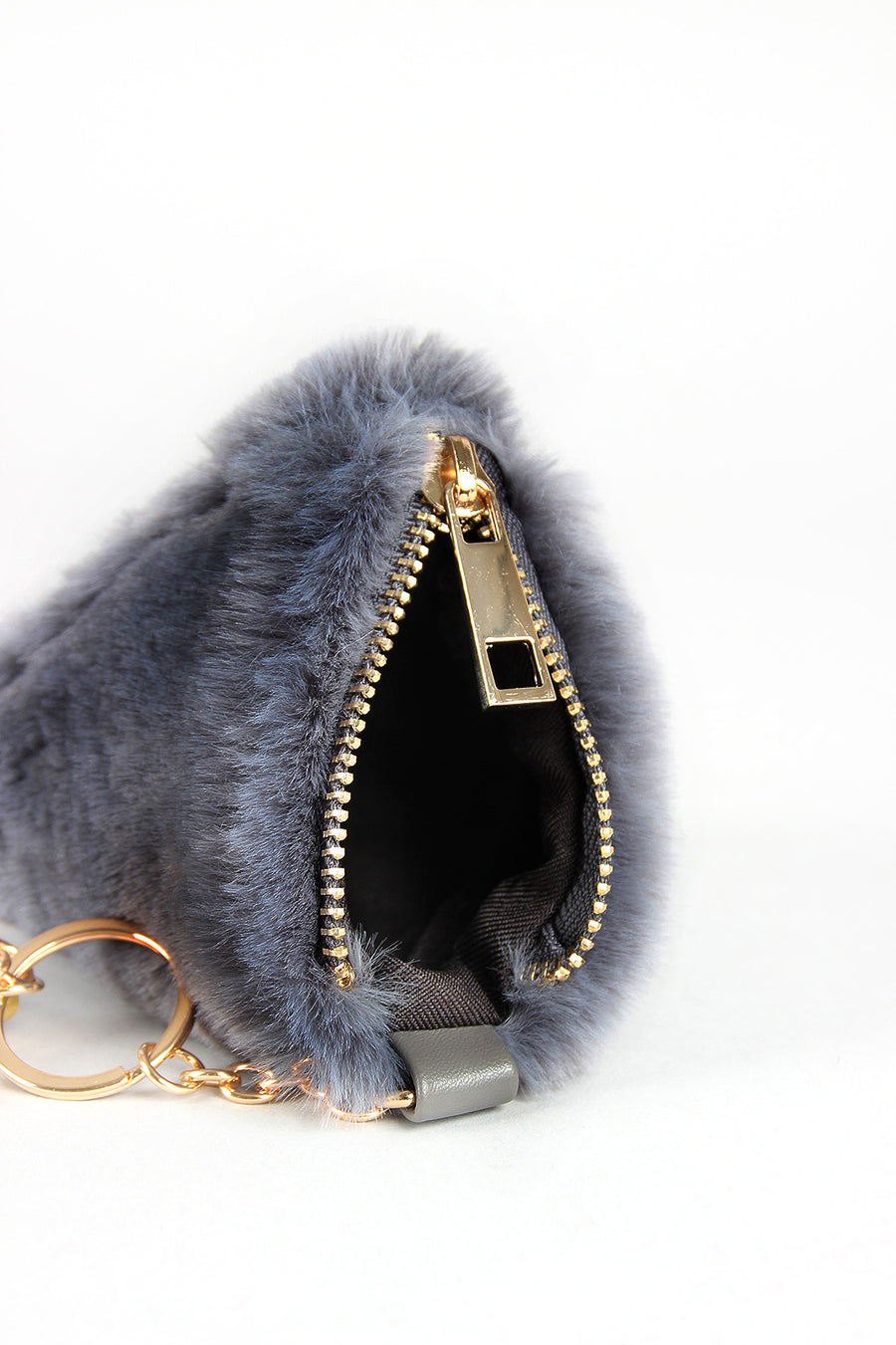 Faux Fur Pyramid Key Chain
