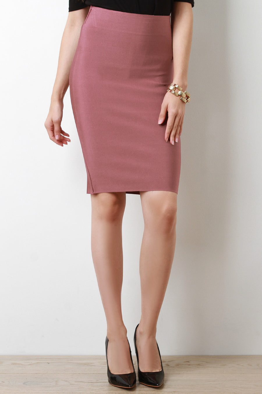 High Waisted Bandage Pencil Skirt