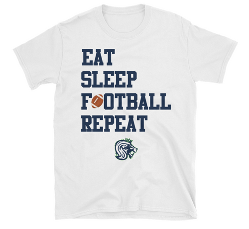 Eat Sleep Football Repeat - Seattle Majestics T-Shirt