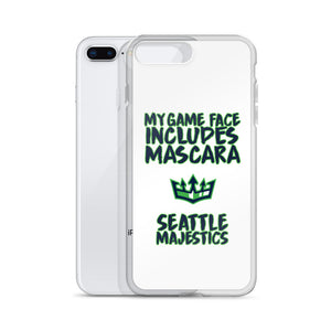 My Game Face Includes Mascara - Seattle Majestics iPhone Case