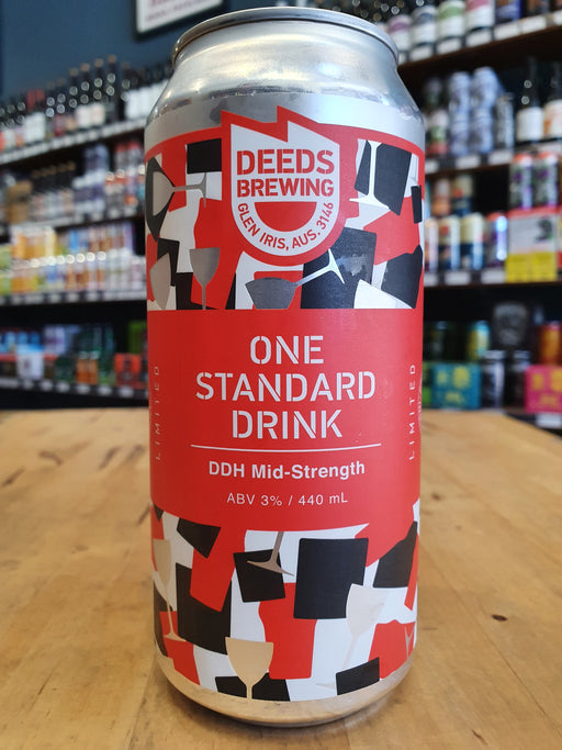 Deeds One Standard Drink DDH Mid-Strength 440ml Can