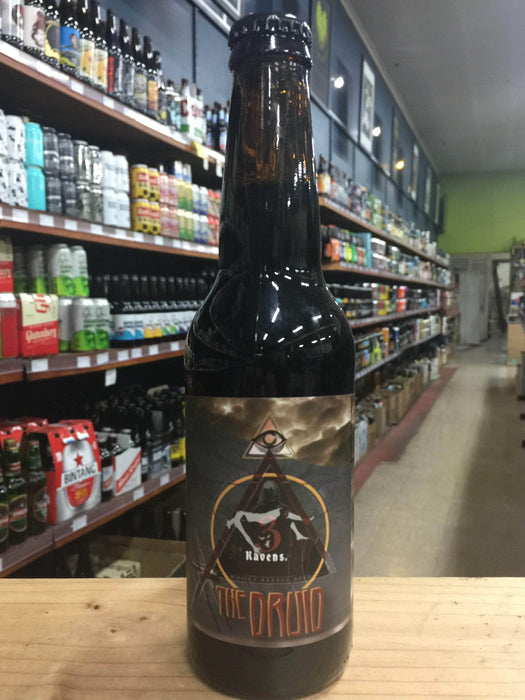 3 Ravens The Druid Starward Whiskey Barrel-Aged Belgian Quad 330ml - Purvis Beer