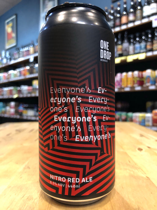 One Drop Everyone's Nitro Red Ale 440ml Can