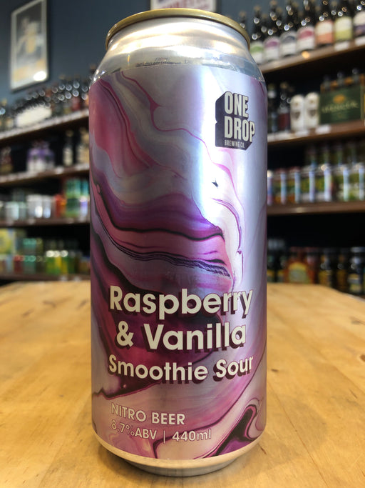 One Drop Raspberry & Vanilla Nitro Imperial Smoothie Sour 440ml Can