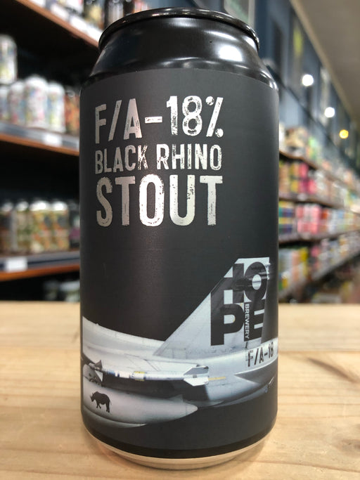 Hope F/A-18 Black Rhino Stout 375ml Can