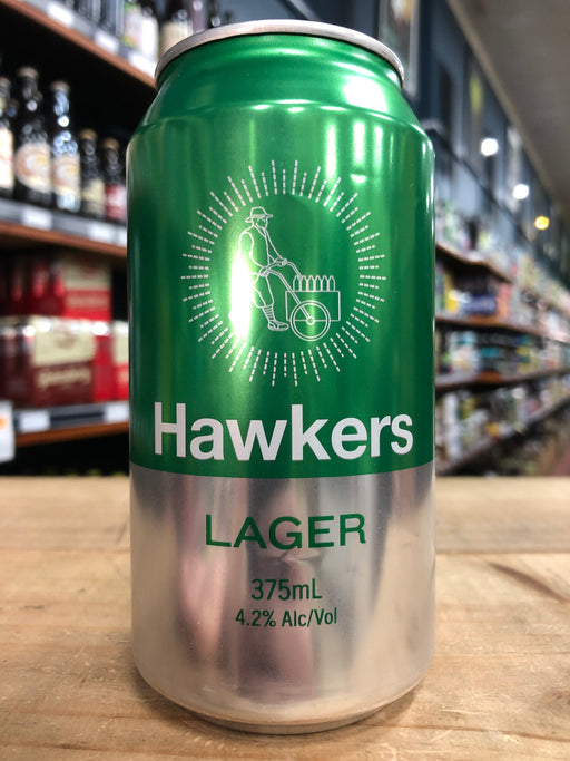 Hawkers Lager 375ml Can