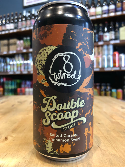 8 Wired Double Scoop Stout - Salted Caramel Cinnamon Swirl 440ml Can
