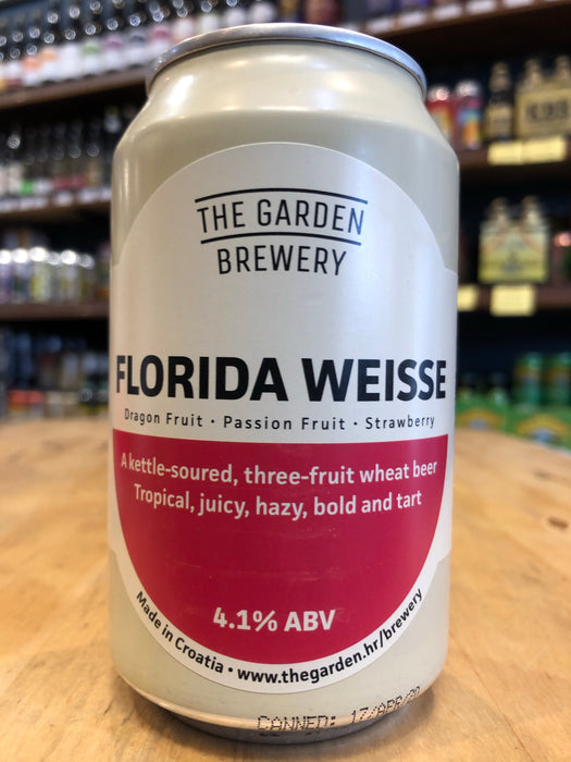 The Garden Florida Weisse - Dragon Fruit, Passion & Strawberry 330ml Can