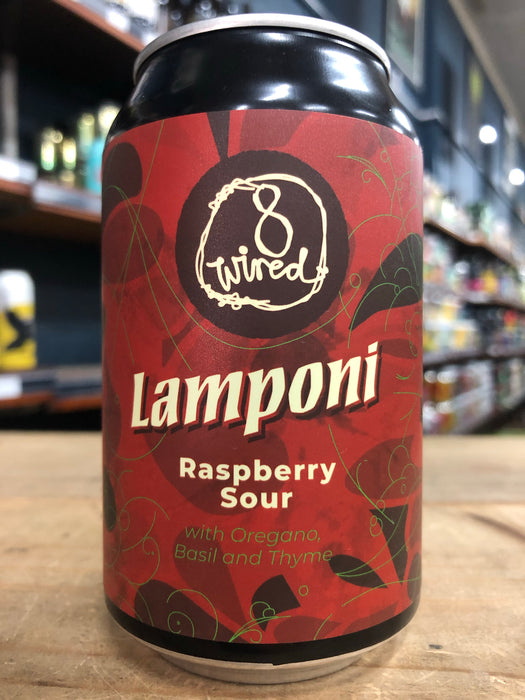 8 Wired Lamponi - Raspberry 330ml Can