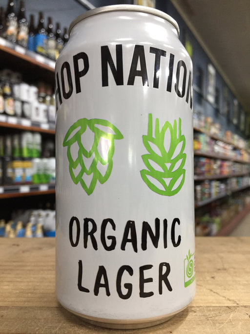 Hop Nation Organic Lager 375ml Can