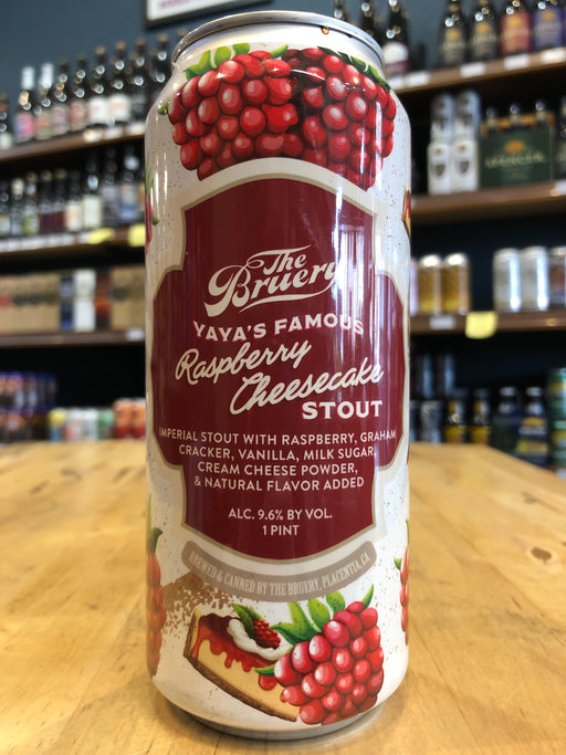 The Bruery YaYa's Famous Raspberry Cheesecake Stout 473ml Can