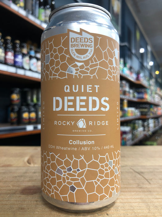 Quiet Deeds / Rocky Ridge Collusion DDH Wheatwine 440ml Can