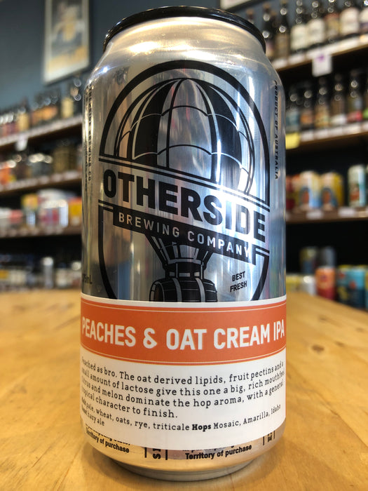Otherside Peaches And Oat Cream IPA 375ml Can