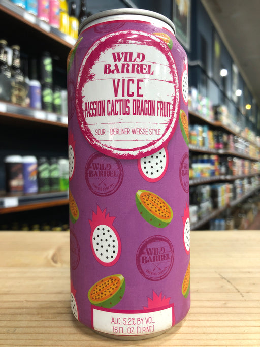 Wild Barrel Vice Passion Cactus Dragon Fruit 473ml Can
