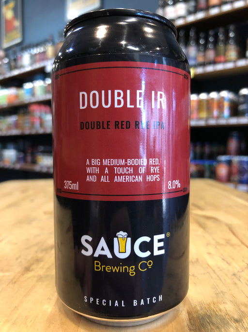 Sauce Double IR - Double Red Rye IPA 375ml Can