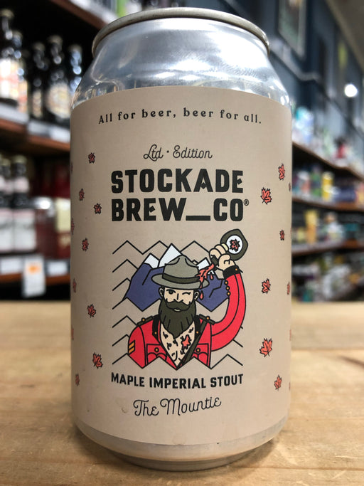 Stockade The Mountie Maple Imperial Stout 330ml Can