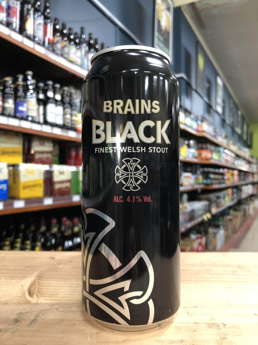 Brains Black Stout 440ml Can - Purvis Beer