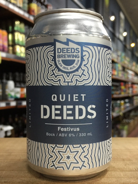 Quiet Deeds Festivus Dark Lager 330ml Can
