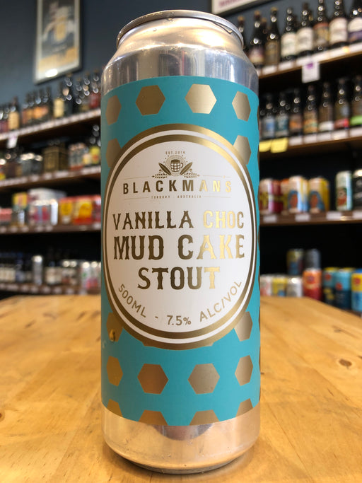 Blackman's Vanilla Choc Mud Cake Stout 500ml Can