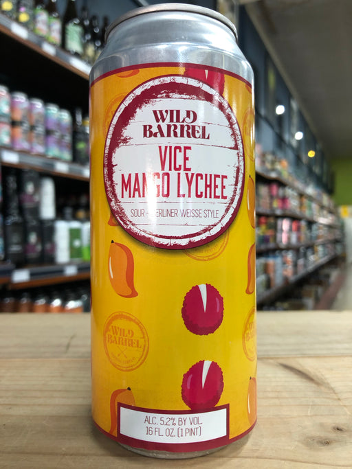 Wild Barrel Vice Mango Lychee 473ml Can