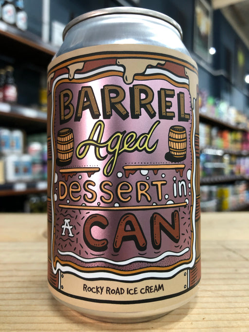 Amundsen Barrel Aged Dessert In A Can - Rocky Road Ice Cream 330ml Can