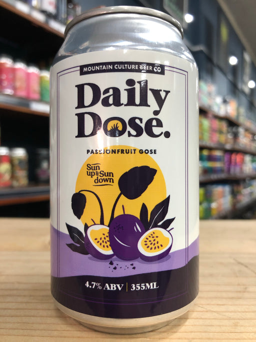 Mountain Culture Daily Dose Passionfruit Gose 355ml Can