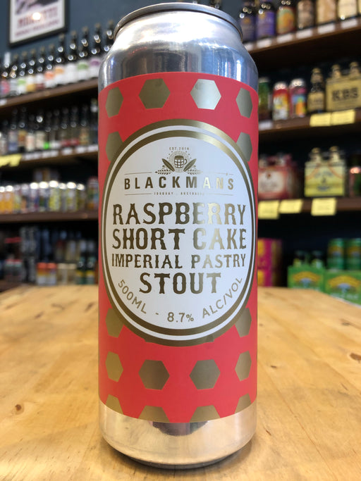 Blackman's Raspberry Short Cake Imperial Pastry Stout 500ml Can