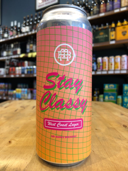 Mr Banks Stay Classy West Coast Lager 500ml Can