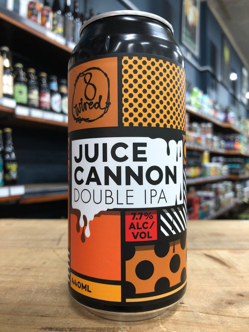 8 Wired Juice Cannon Double IPA 440ml Can