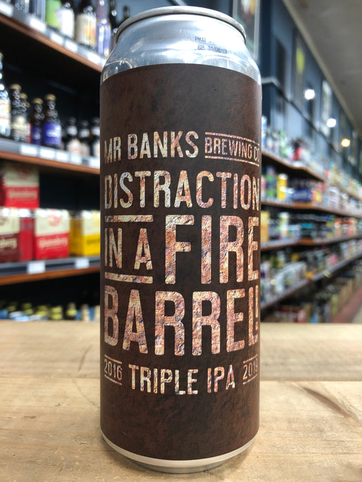 Mr Banks Distraction In A Fire Barrel Triple IPA 500ml Can