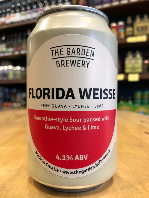 The Garden Florida Weisse - Pink Guava, Lychee & Lime 330ml Can