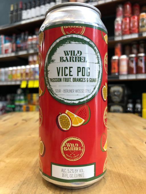Wild Barrel Vice POG w/ Passionfruit, Orange and Guava 473ml Can