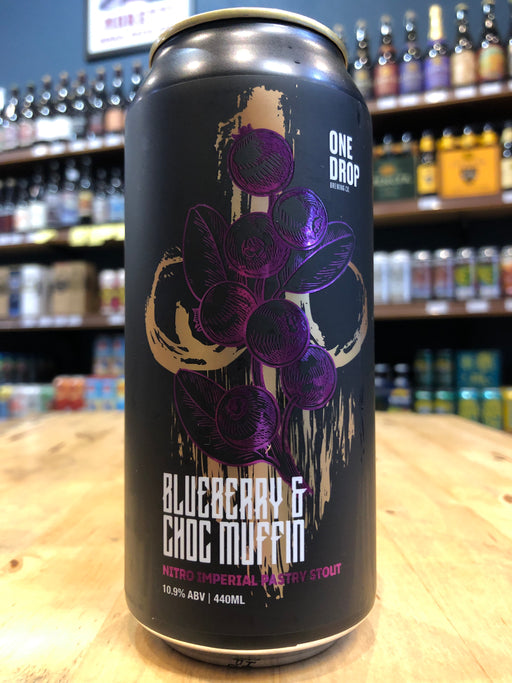 One Drop Blueberry & Choc Muffin Nitro Imperial Pastry Stout 440ml Can