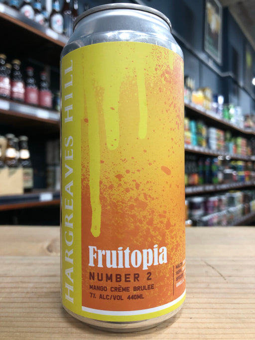 Hargreaves Hill Fruitopia Number 2 – Mango Crème Brulee 440ml Can