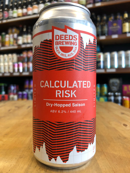 Deeds Calculated Risk Dry Hopped Saison 440ml Can