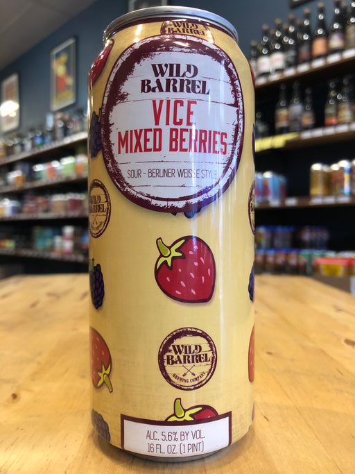 Wild Barrel Vice Mixed Berry Bomb 473ml Can