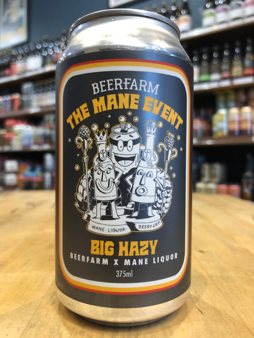Beerfarm The Mane Event Big Hazy 375ml Can